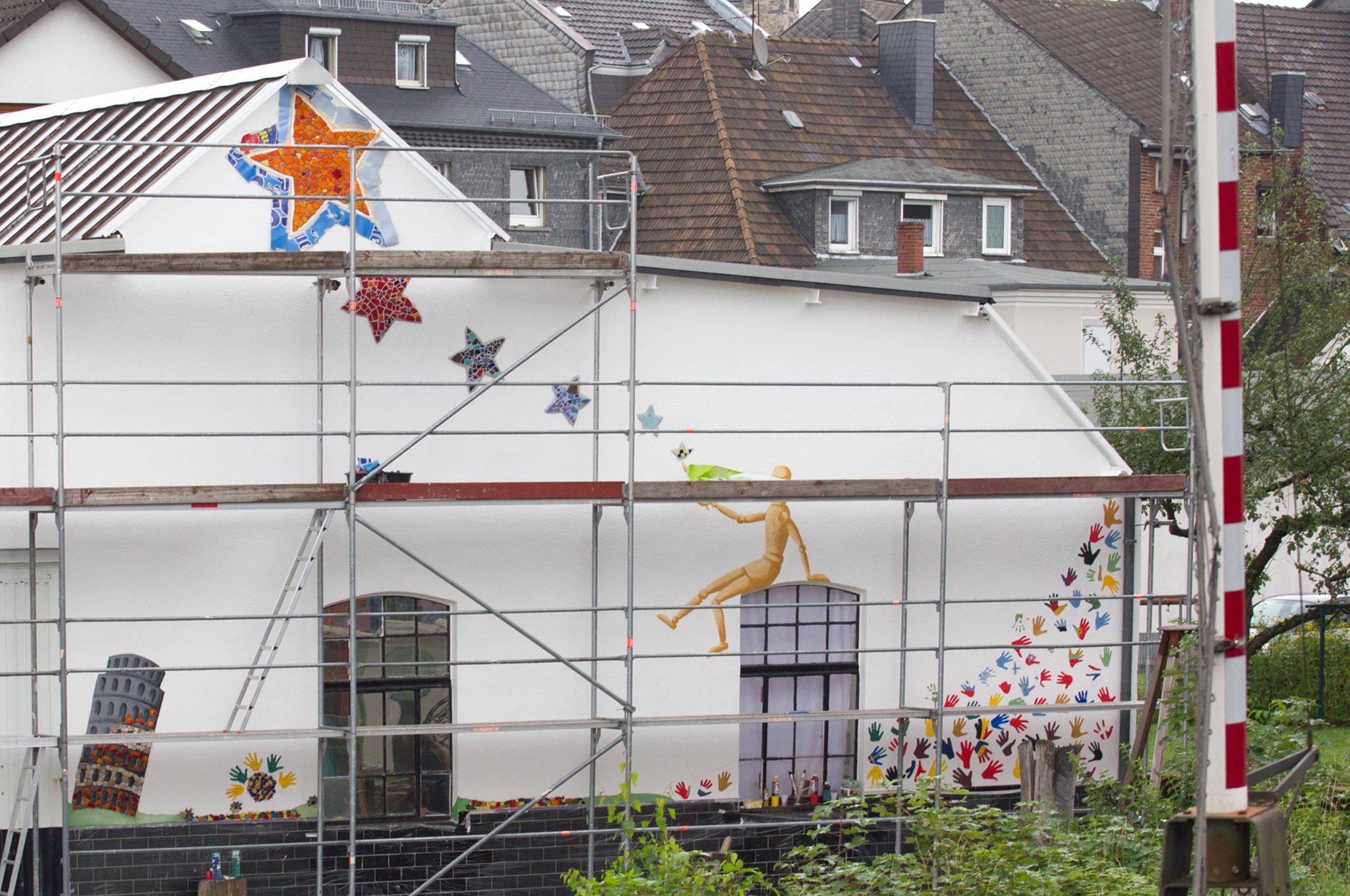 Fassadengestaltung tanja corbach bildende kunst for Raumgestaltung partizipation