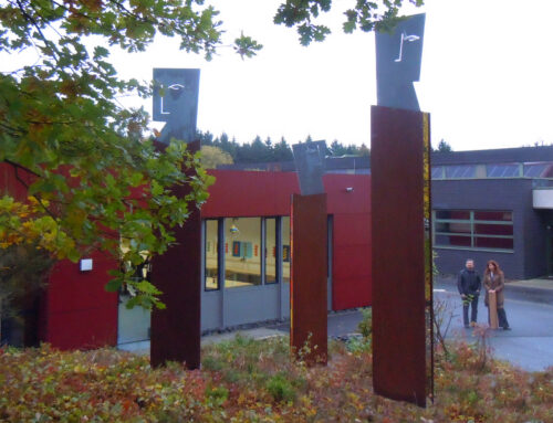 Drei Säulen des Lernens, Kunst-am-Bau